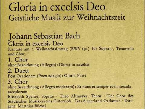 Cantata BWV 191 - Details & Discography Part 1: Complete Recordings